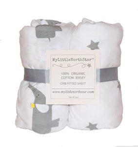 Organic Cotton Jersey Crib Sheet Set