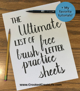 The Ultimate List of Free Brush Letter Practice Sheets