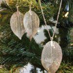 Dangle Leaf Necklace & Earring Set