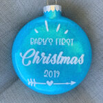 Custom Baby's First Christmas Ornament (Two-sided)