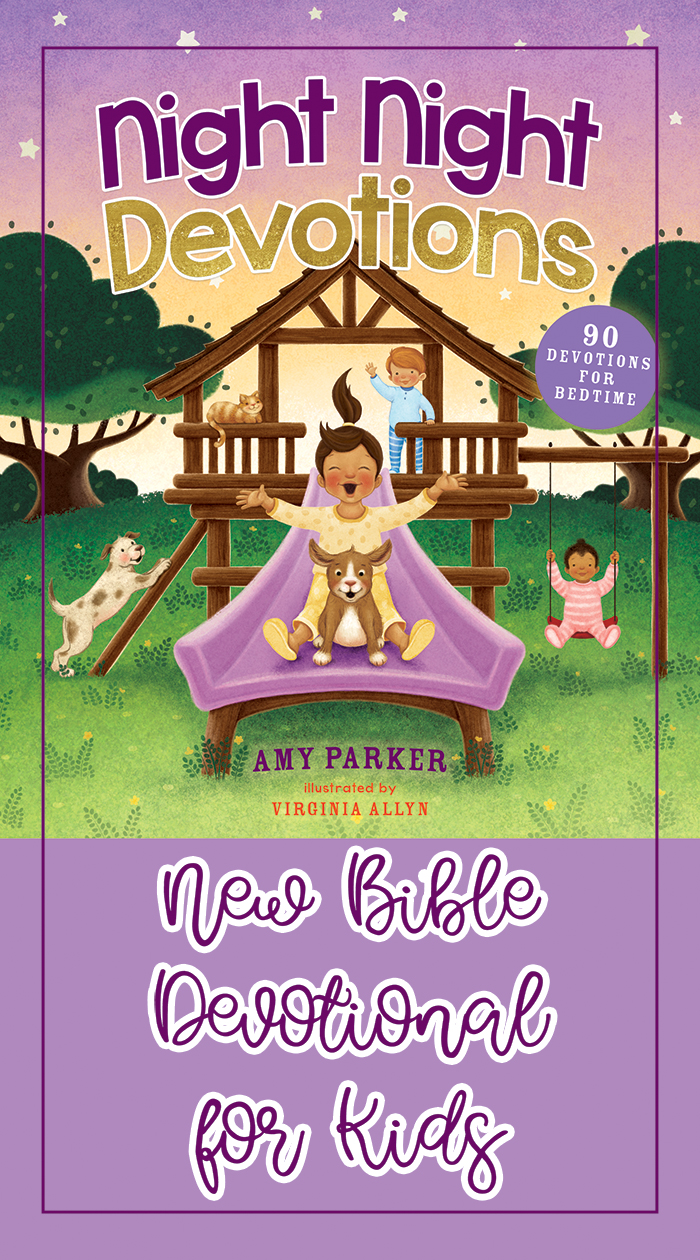 Check out this new adorable, Biblical book with 90 devotions for kids!