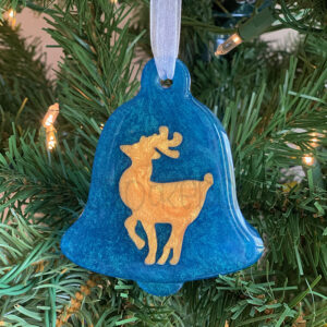 Custom Color Bell Ornament w/ Deer or Tree