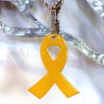 Custom Color Awareness Ribbon Keychain