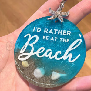 I'd Rather be at the Beach Keychain