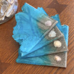 Beach Geode Slice Coasters (Set of 4)