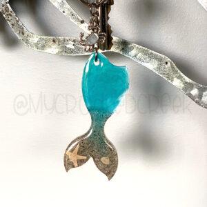 Beach Mermaid Tail Keychain