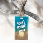 Sun Sand Sea Small Rectangle Beach Keychain