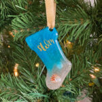Monogram Beach Stocking Ornament or Keychain