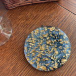 Black & Gray Coaster with Gold Flakes