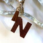 Custom Glitter Letter Initial Keychain