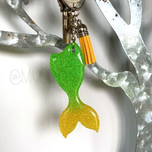Custom Ombré Glitter Mermaid Tail Keychain