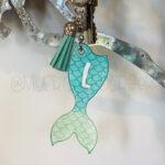 Custom Shimmery Ombré Mermaid Tail Keychain