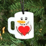 Snowman Mug Ornament or Keychain