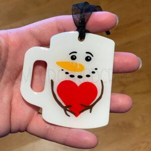 Snowman Mug Ornament or Keychain