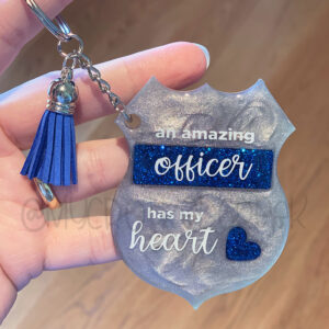 Custom Officer Has my Heart Keychain