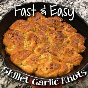 Fast & Easy Skillet Garlic Knots