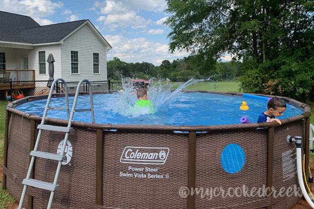 Our New Coleman® Above-Ground Pool
