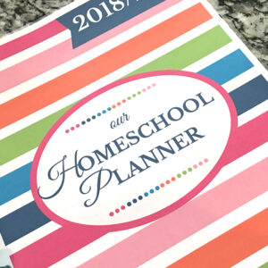 """Check out my review of the Simplified Homeschool Planner by """"Just A Simple Home"""" and how I used it in my Happy Planner for this fall #homeschool #planner #happyplanner"""