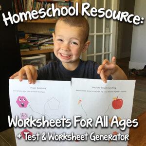 A Great Worksheet Resource & Test Generator